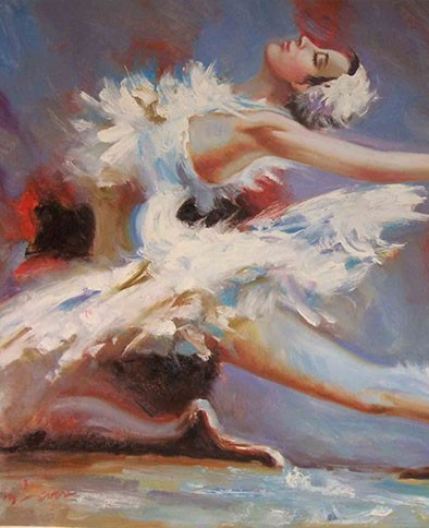 La Pastiche Hand Painted Oil Reproduction, The Dance by Iris Grover