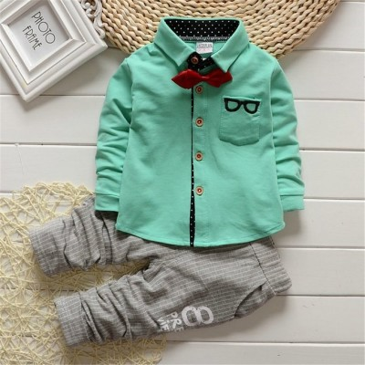 SOFIRE Baby Boys Infant Toddler Pants Clothing Sets Button Down T Shirt