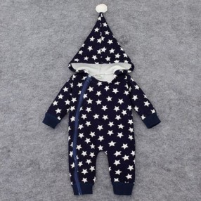 Kids Baby Boy Girl Warm Infant Romper Jumpsuit Bodysuit Hooded Clothes