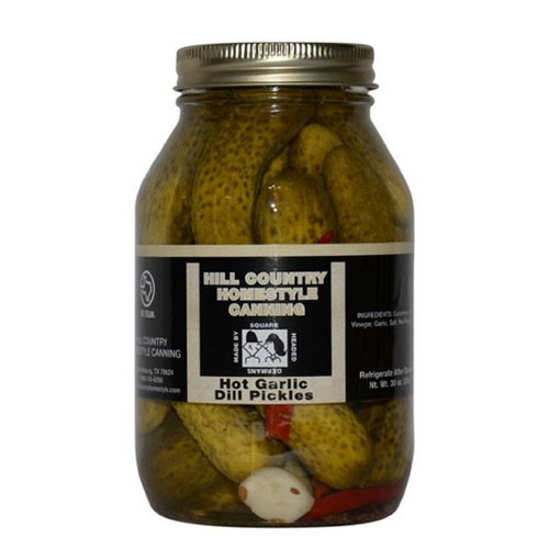 Texas Hill Country Hot Garlic Dill Pickles