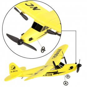 Eshion RC Helicopter FX803 2CH 2.4G Aircraft Glider Airplane Kid Toys with Transmitter Yellow
